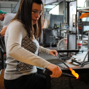 student working guided