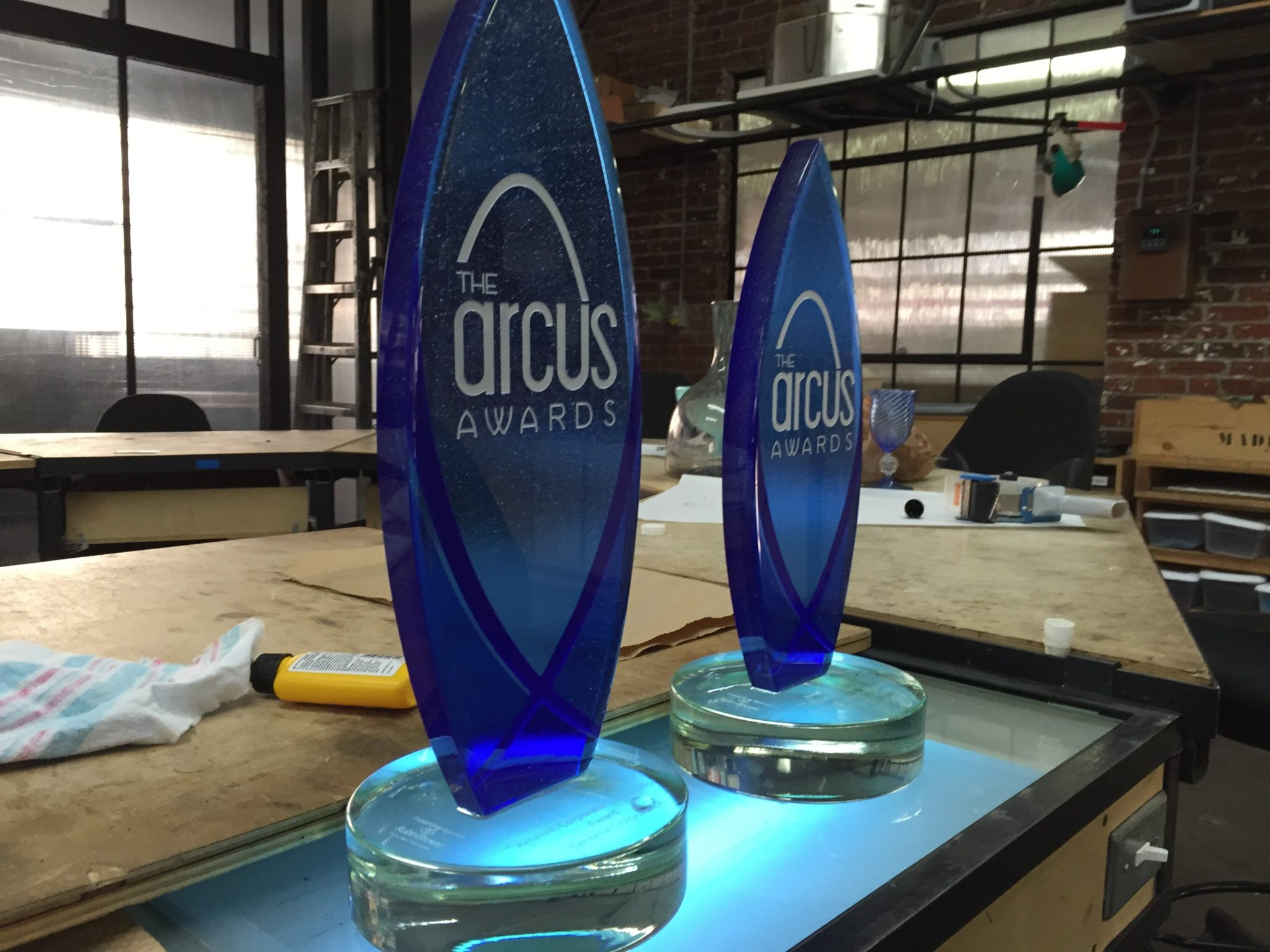 Third Degree Handmade Glass Awards featured at Arcus Awards