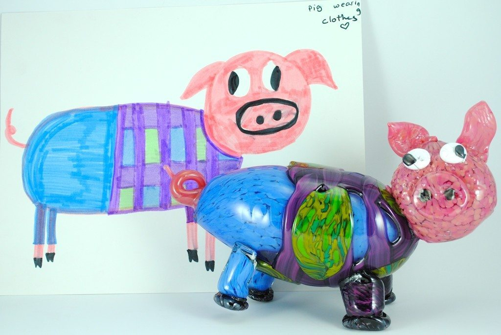 piggy pic and glass pig