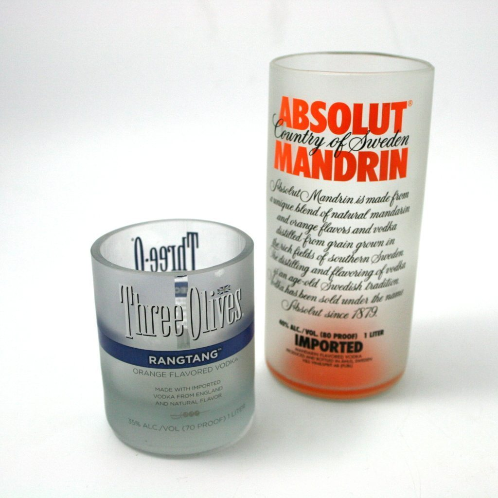 Use his favorite liquor for a unique drinking glass!
